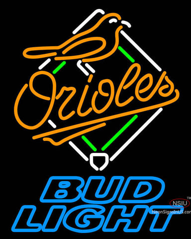 Bud Light Baltimore Orioles MLB Neon Sign