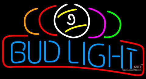 Bud Light Billiard Balls Neon Beer Sign