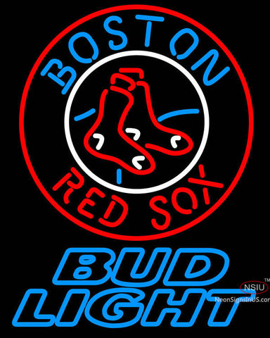 Bud Light Boston Red Sox MLB Neon Sign
