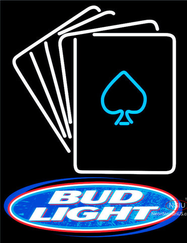 Bud Light Cards Neon Sign  x