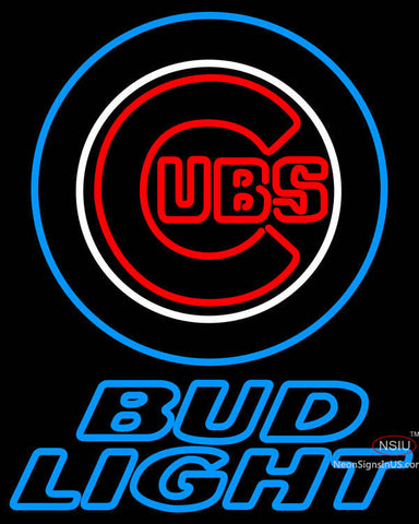 Bud Light Chicago Cubs MLB Neon Sign