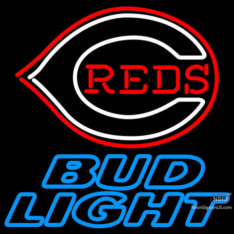 Bud Light Cincinnati Reds MLB Neon Sign