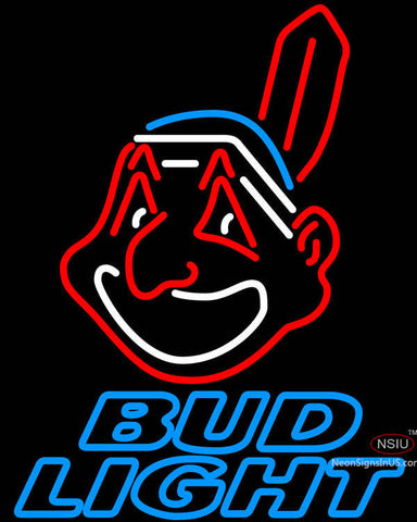 Bud Light Cleveland Indians MLB Neon Sign