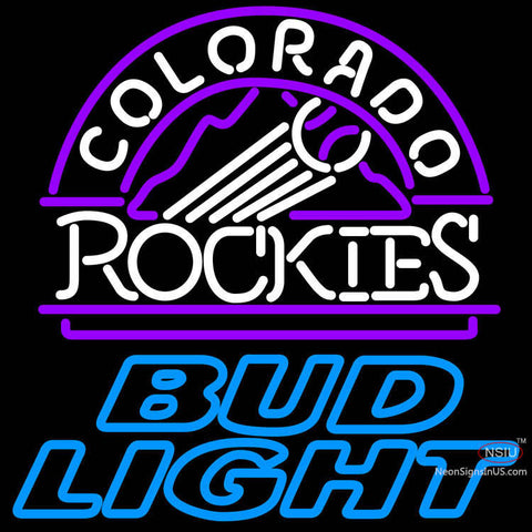 Bud Light Colorado Rockies MLB Neon Sign