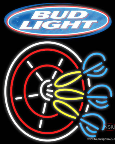 Bud Light Darts Pin Neon Sign