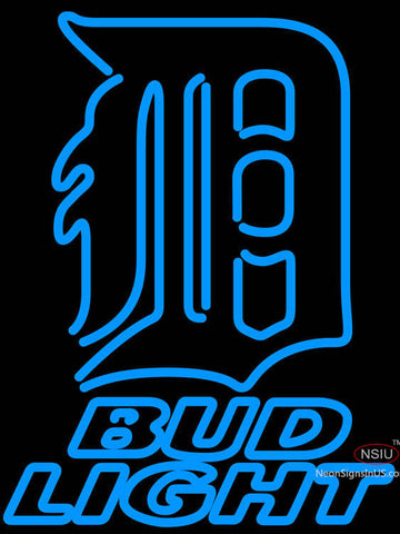 Bud Light Detroit Tigers MLB Neon Sign
