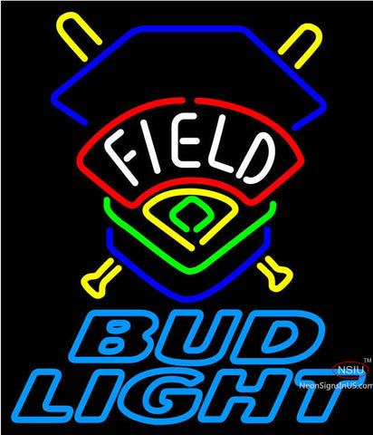 Bud Light Field Colorado Rockies Neon Beer Sign