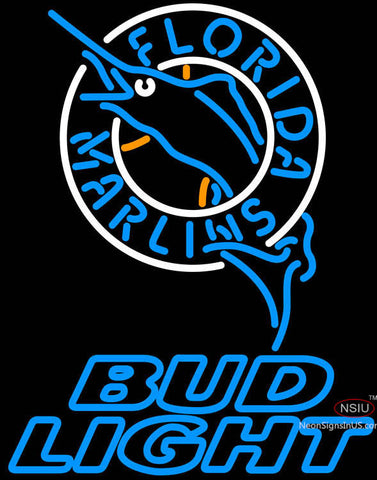 Bud Light Florida Marlins MLB Neon Sign