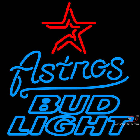 Bud Light Houston Astros MLB Neon Sign