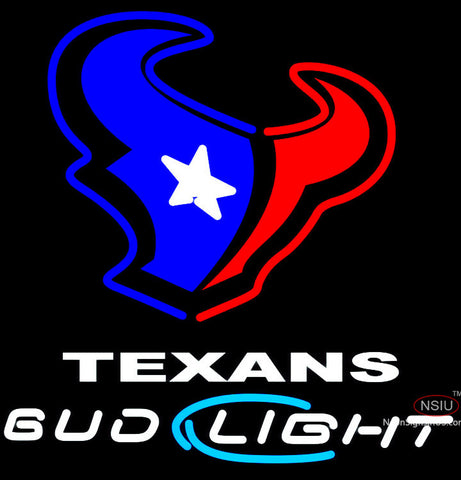 Bud Light Houston Texans NFL Neon Beer Sign