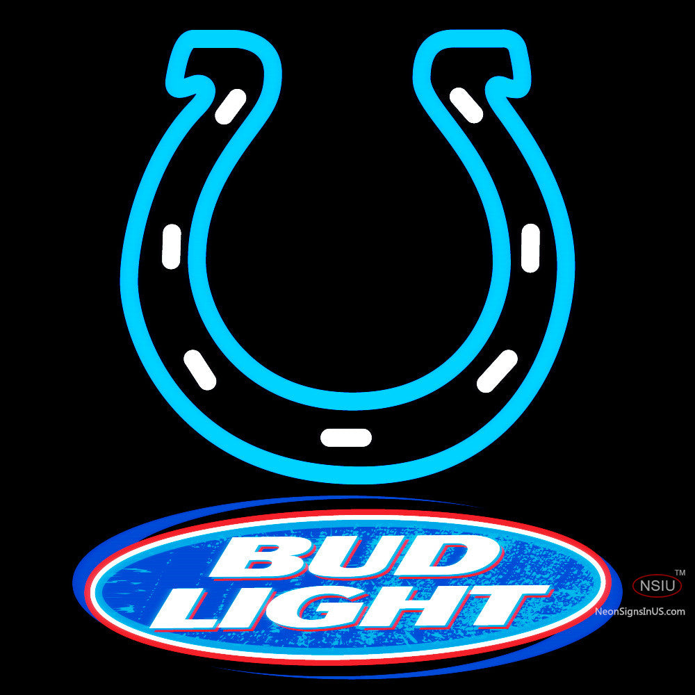 Bud Light Indianapolis Colts Nfl Neon Sign Neonsigns Usa Inc