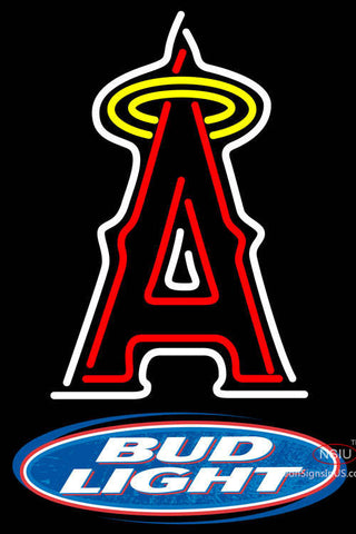 Bud Light Logo Los Angeles Angels Of Anaheim MLB Neon Sign