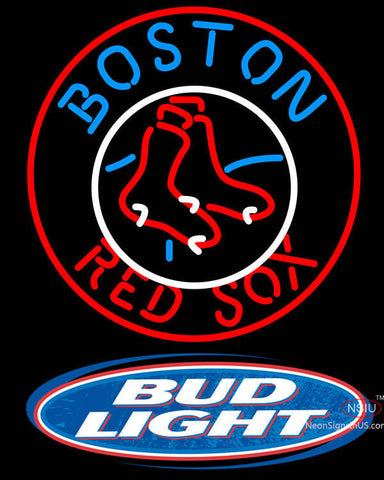 Bud Light Logo Boston Red Sox MLB Neon Sign