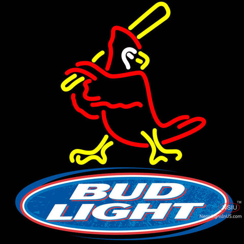 Bud Light Logo Cardinals Neon Sign x