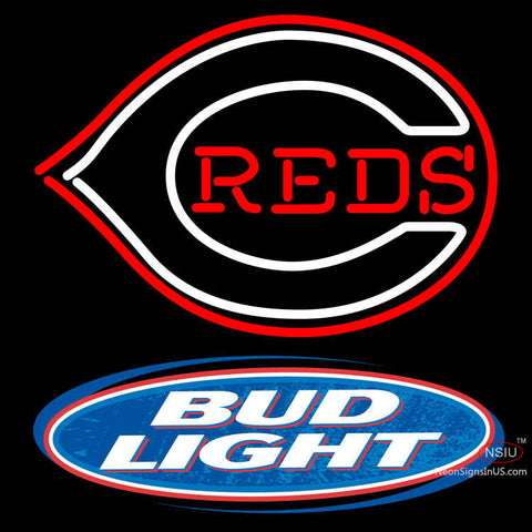 Bud Light Logo Cincinnati Reds MLB Neon Sign x