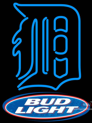 Bud Light Logo Detroit Tigers MLB Neon Sign