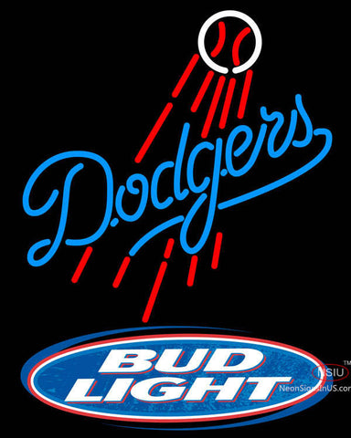 Bud Light Logo Los Angeles Dodgers MLB Neon Sign