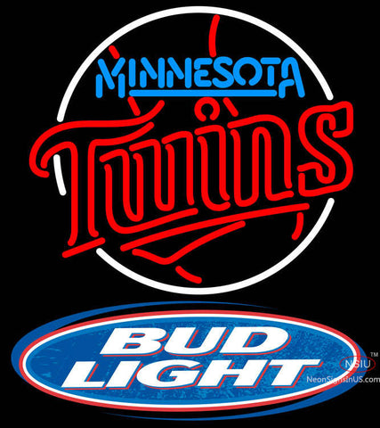 Bud Light Logo Minnesota Twins MLB Neon Sign