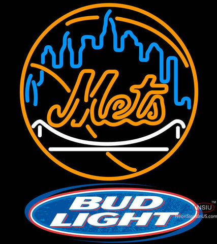 Bud Light Logo New York Mets MLB Neon Sign