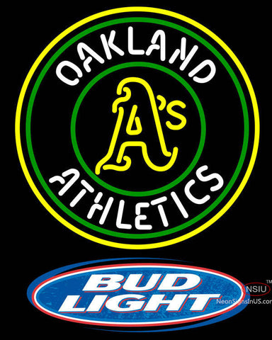 Bud Light Logo Oakland Athletics MLB Neon Sign