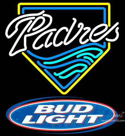 Bud Light Logo San Diego Padres MLB Neon Sign