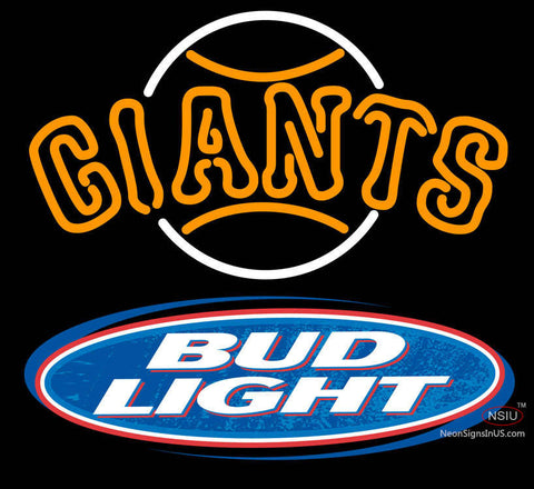 Bud Light Logo San Francisco Giants MLB Neon Sign