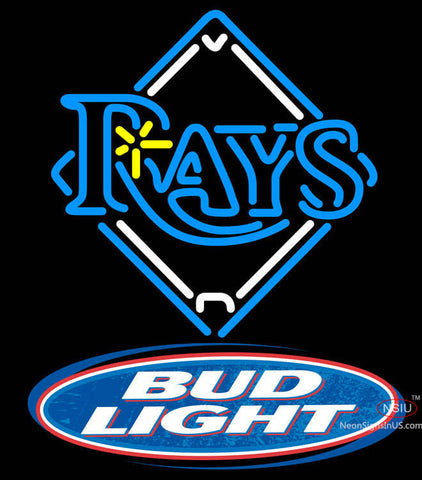 Bud Light Logo Tampa Bay Rays MLB Neon Sign