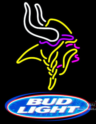 Bud Light Minnesota Vikings NFL Neon Sign