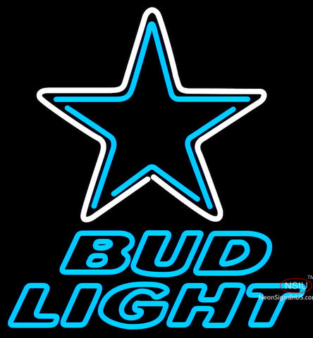 Bud Light Neon Dallas Cowboys NFL Neon Sign