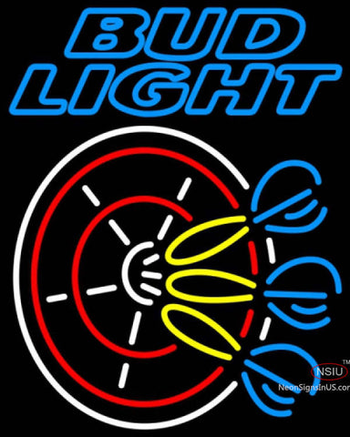 Bud Light Neon Darts Pin Neon Sign
