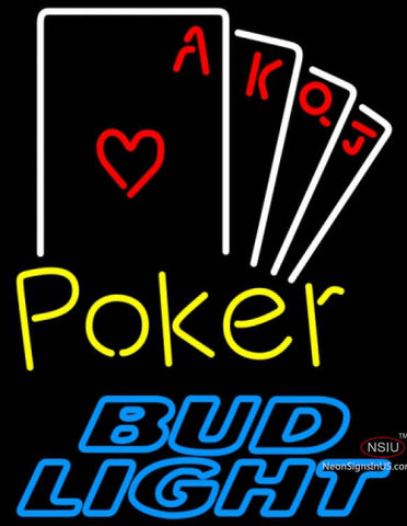 Bud Light Neon Poker Ace Series Neon Sign 7