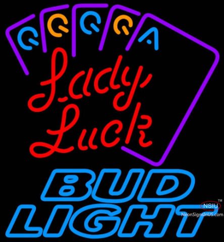 Bud Light Neon Poker Lady Luck Series Neon Sign Neon Sign 7