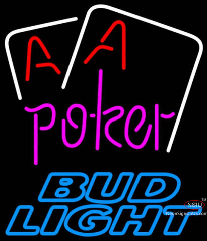 Bud Light Neon Aces White Cards Poker Neon Sign
