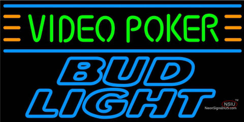 Bud Light Neon Video Poker Neon Sign 7