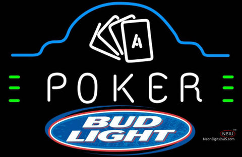Bud Light Poker Ace Cards Neon Sign 7