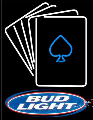 Bud Light Poker Cards Neon Sign 7
