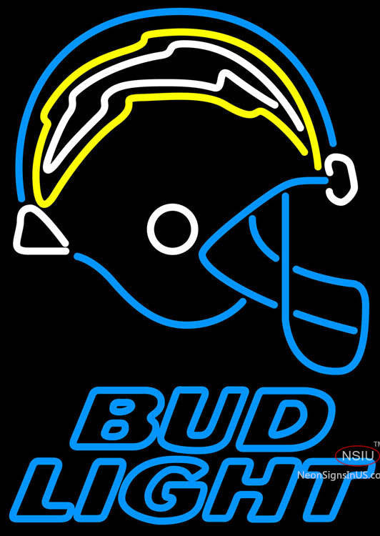 Bud Light San Diego Chargers Nfl Neon Sign Neonsigns Usa Inc