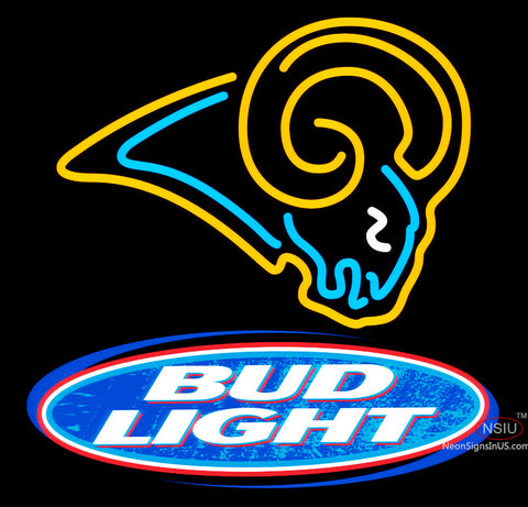 Bud Light St Louis Rams NFL Neon Sign