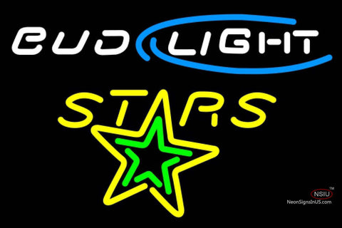 Bud Light Texas Stars Ahl Neon Beer Sign 7