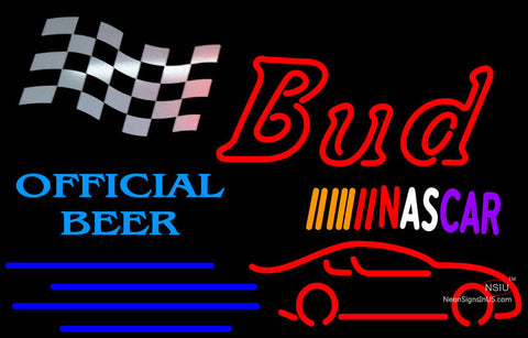Bud NASCAR Official Beer Neon Sign