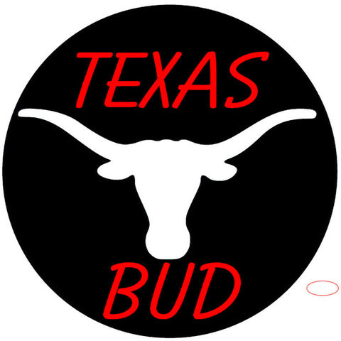 Bud Red Texas White Longhorn Neon Beer Sign x