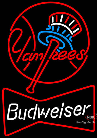 Bud Yankee Circle Neon Beer Sign