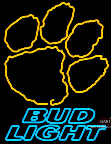 Bud Light Clemson University Tiger Print Neon Sign
