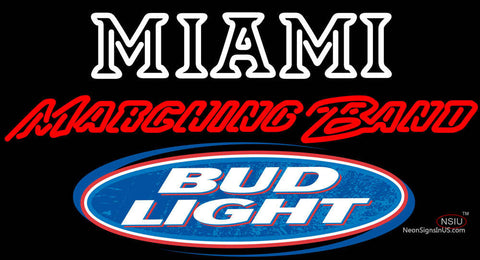 Bud Light Logo Miami University Band Board Neon Signs