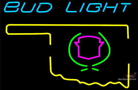 Budlight Oklahoma Calidac Color Neon Sign