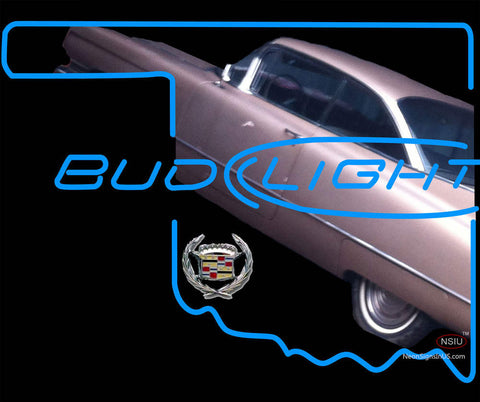 Bud Light Oklahoma Car Cadillac Neon Sign