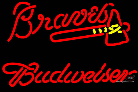 Budweiser Atlanta Braves MLB Neon Sign