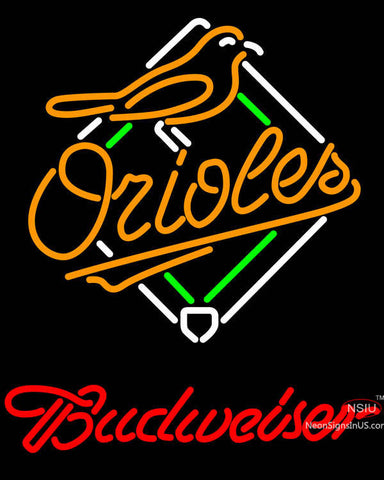 Budweiser Baltimore Orioles MLB Neon Sign