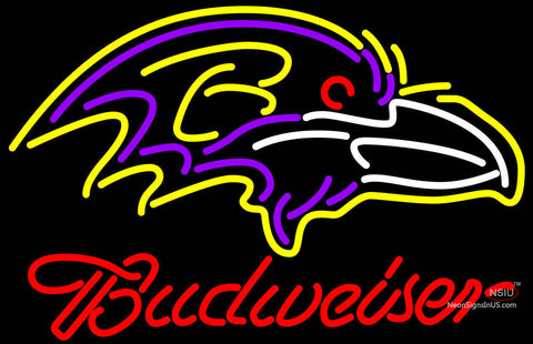 Budweiser Baltimore Ravens NFL Neon Sign