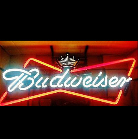 Budweiser Bow Tie Neon Beer Sign